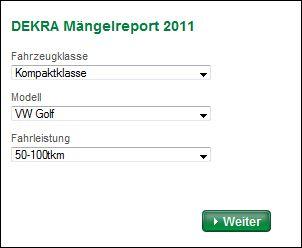 DEKRA Mängelreport 2011