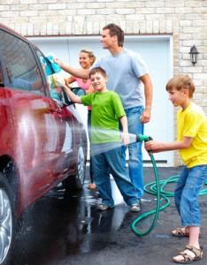 Auto innen sauber machen